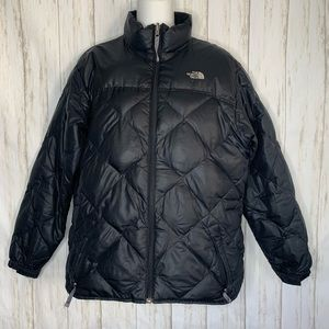 The North Face Puffer Girls Jacket Sz XL Black Qui